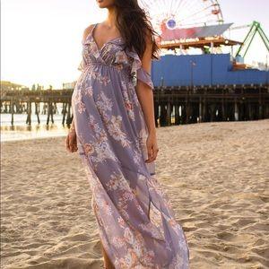 Jessica Simpson Ruffled Maternity Dress